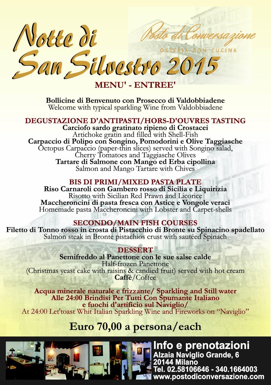 VOLANTINO NOTTE SAN SILVESTRO 2015